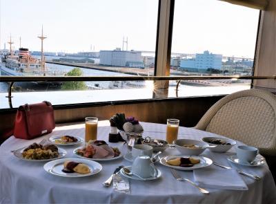 朝食ブッフェがとても素敵でおいしい、ホテルニューグランド