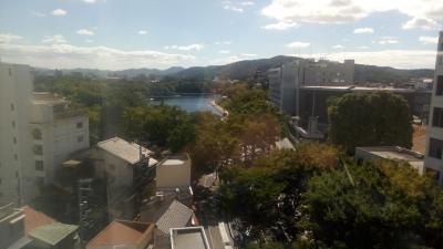 岡山城が見えます