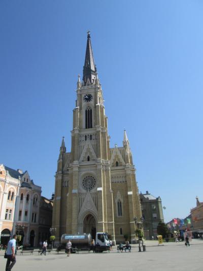 街の中心にあるカトリック教会