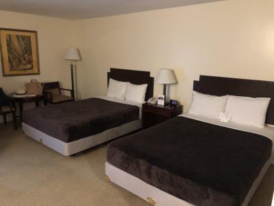 ベッドは大きくて、部屋も広々していました