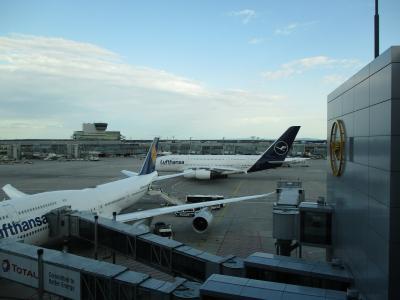 往路:羽田→フランクフルト→バルセロナ 復路:リスボン→フランクフルト→羽田を利用しました。