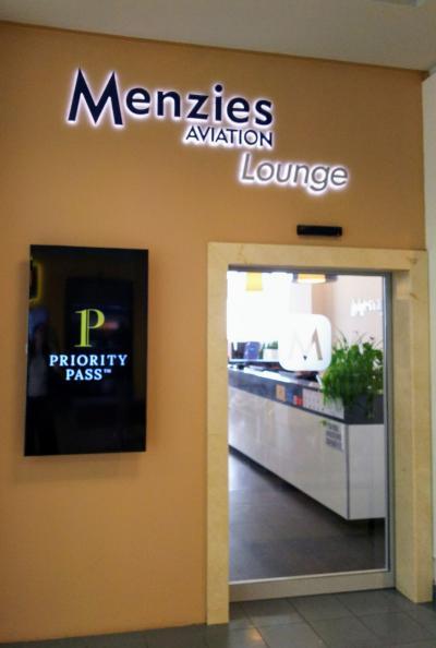 プラハ ターミナル1のメンジーズラウンジ Menzies Aviation Lounge