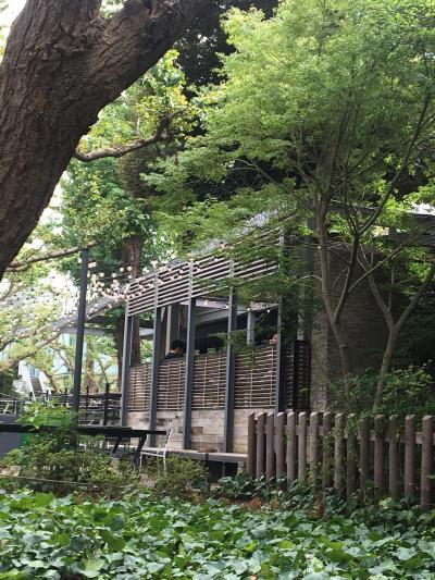 イチョウ並木通りにあるカフェ