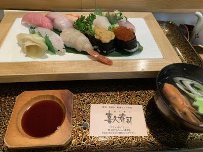 隣席は米兵、まさしく寿司バー