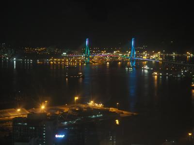 釜山の街を一望