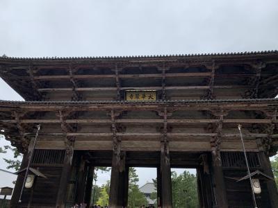 スケールが大きい東大寺の建物に感激( ^ω^ )