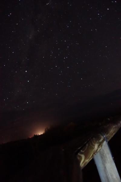 敷地内の展望台から見た星空。