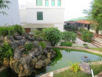 ホテルのお庭