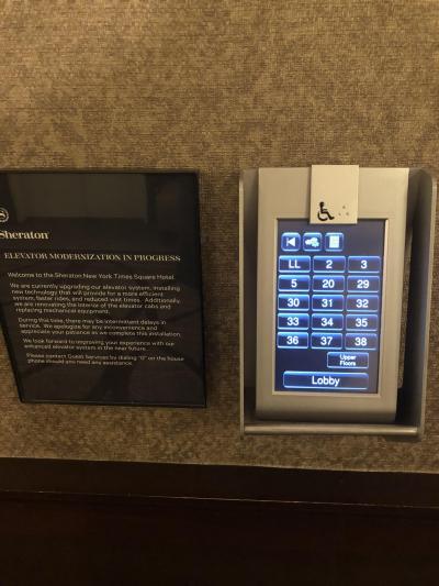 エレベータの選択ボタン