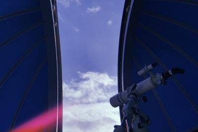 天体観測の出来る星型コテージ