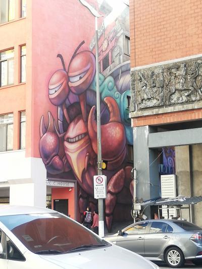 ホテルの向かい側にこんなアートが!