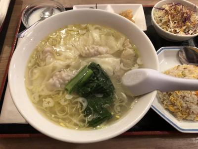 雲吞麺が美味しかった!!