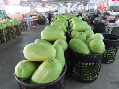 一般の市場とは雰囲気がちょっと違う果菜の早朝市場