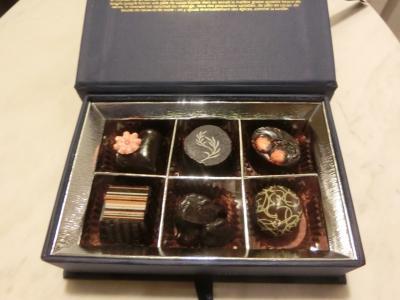 ウェルカムチョコレート。味のクオリティも高い。