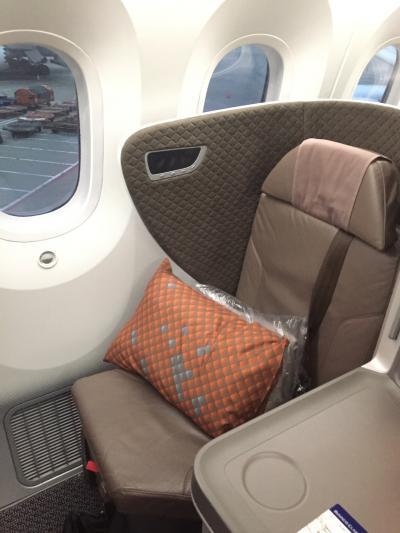 シンガポール航空ビジネスクラス搭乗(B787-10)