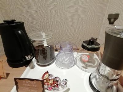 お部屋にコーヒーミルがありました!