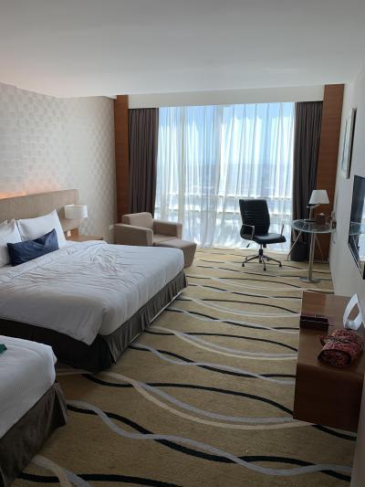 目の前がショッピングモールでロケーションが何よりGood!設備も部屋も快適でいいホテルです。