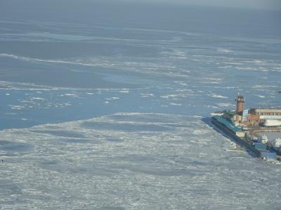 真冬の凍ったアムール湾を見てきました