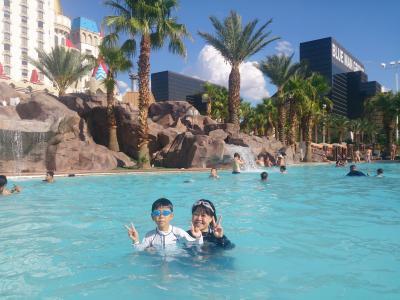 プールが楽しく、子連れに便利