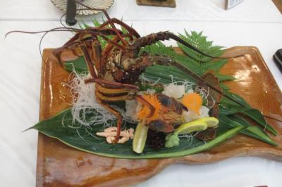 大きな伊勢海老が食べられました。