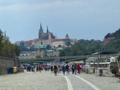 ブルタヴァ川の遊覧はこちらから。川沿いの散歩もおすすめ