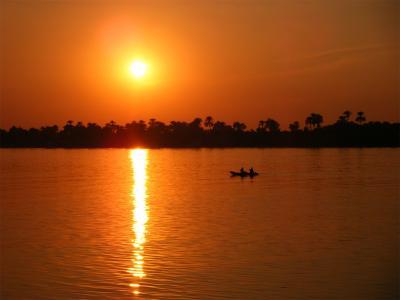 ナイル川の夕刻が美しい