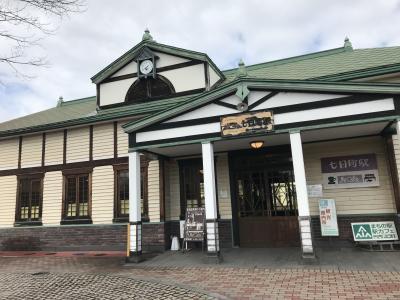 レトロな駅舎の七日町駅