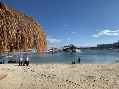 プライベートビーチも。