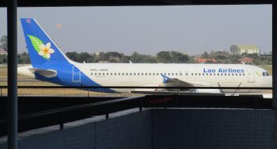 ラオス国営航空をラオス国内の移動で利用しました。