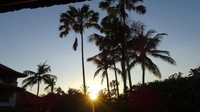 ベランダから目の前に朝日が昇った