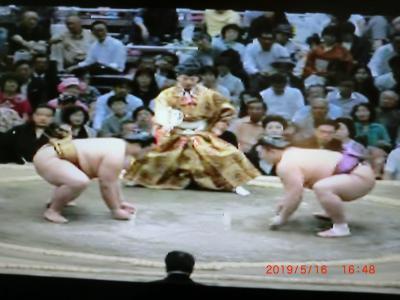 時差があっても相撲が見れました