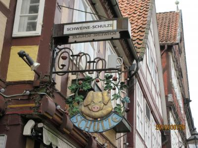 ツェレ旧市街のレストラン シュバイネ・シュルツェには「1842年の秘密の市庁舎」という異称がある。