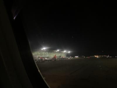 仄暗い地方空港感