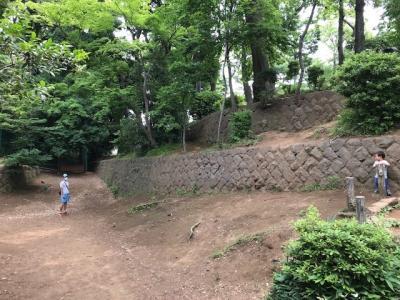 今は公園に石垣だけ残る