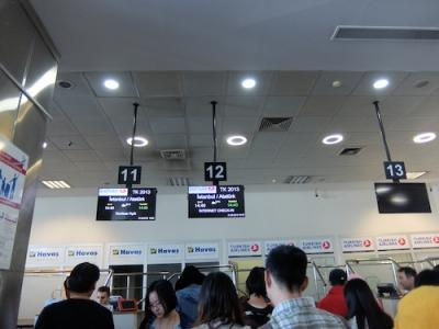 小さいけど国際線空港です