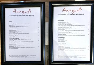 Arnguli Grill のメニュー