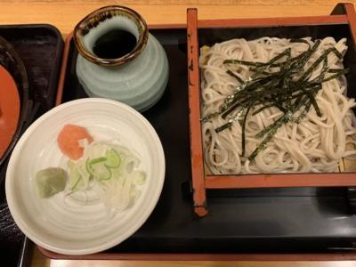 天ぷらそばを食べました