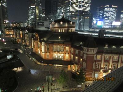 当館からの夜の東京駅の眺めが良い