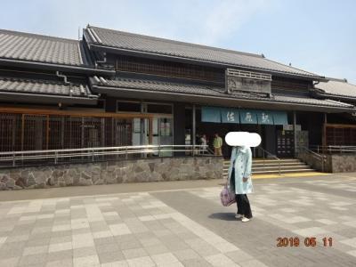 駅前には街のヒーロー伊能忠敬の銅像もあるきれいな駅