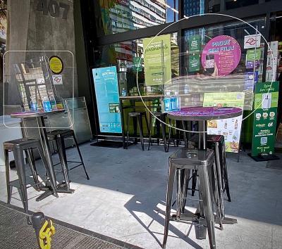 「数分間だけちょっと立ち寄る砂糖のパン屋」というイメージで、少しだけシャレたスーパーです~(パウリスタ大通り/サンパウロ/ブラジル)