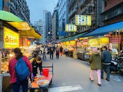 活気ある台北下町の夜市