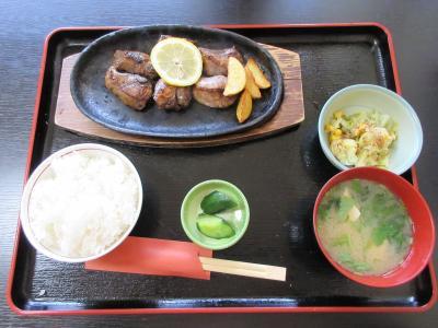 マグロのホホ肉ステーキを食べてみました