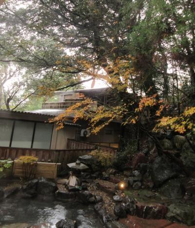 山の中腹に建つ風格ある和風旅館