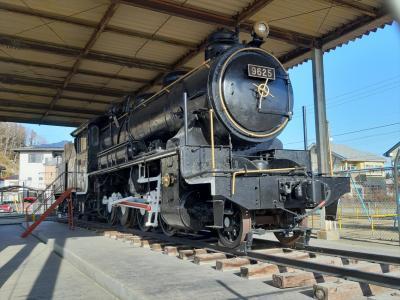 状態の良い9625機関車が屋外保存・展示されている小公園