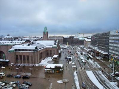 ヘルシンキ中央駅が目の前です。