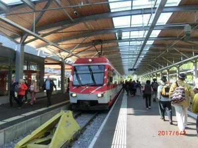 テーシュからツェルマットまでの1駅を往復しました