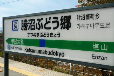 石和温泉方面への本数が少ないので帰りの時刻表チェックは必須:勝沼ぶどう郷駅