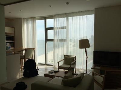 ビーチに面したホテルでとても良いロケーションです。