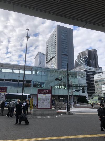 新宿の巨大バスターミナル。