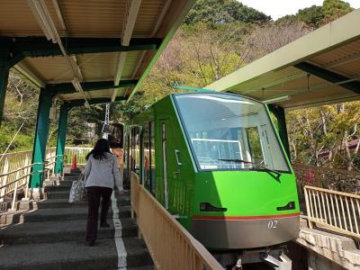 グッドデザイン賞のカッコイイ車両 阿夫利神社下社駅から大山登山
